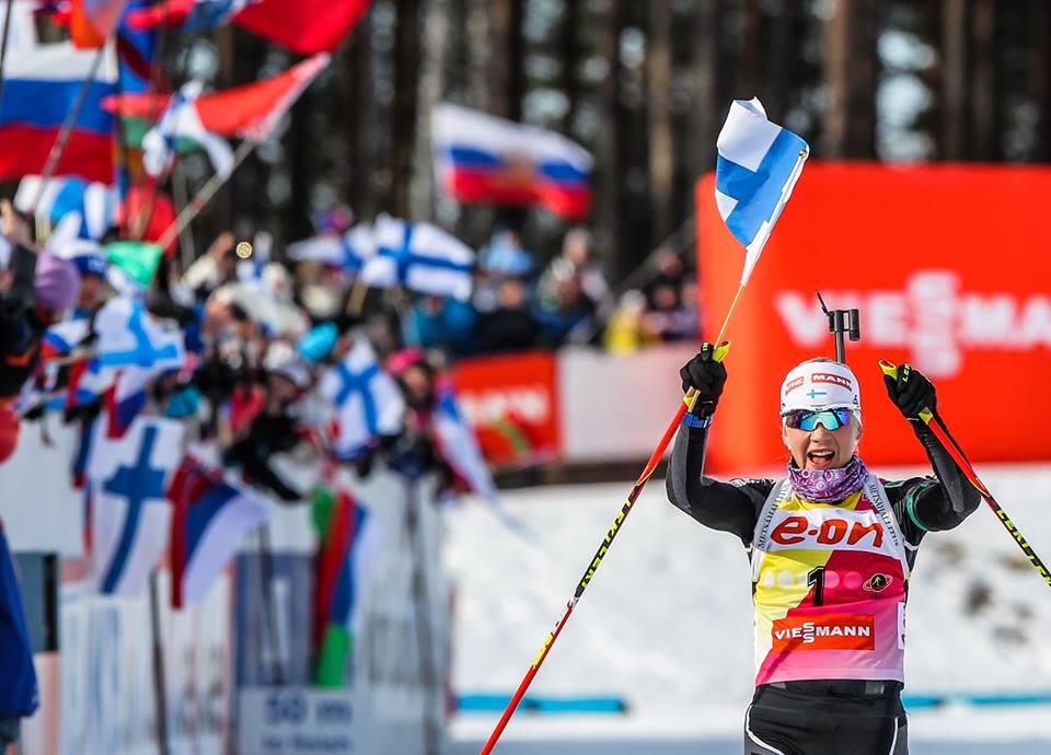 Kaisa Mäkäräinenová vyhrala rýchlostné preteky v Hochfilzene