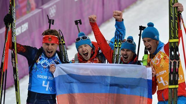 Biatlonová štafeta mužov v oberhofskom nečase tesne pre Rusko