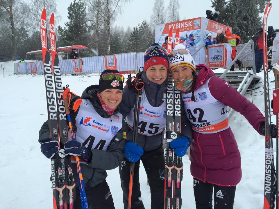 Triumf v pretekoch na 10 km resp. 15 km voľne v Rybinsku pre Jacobsenovú a Colognu