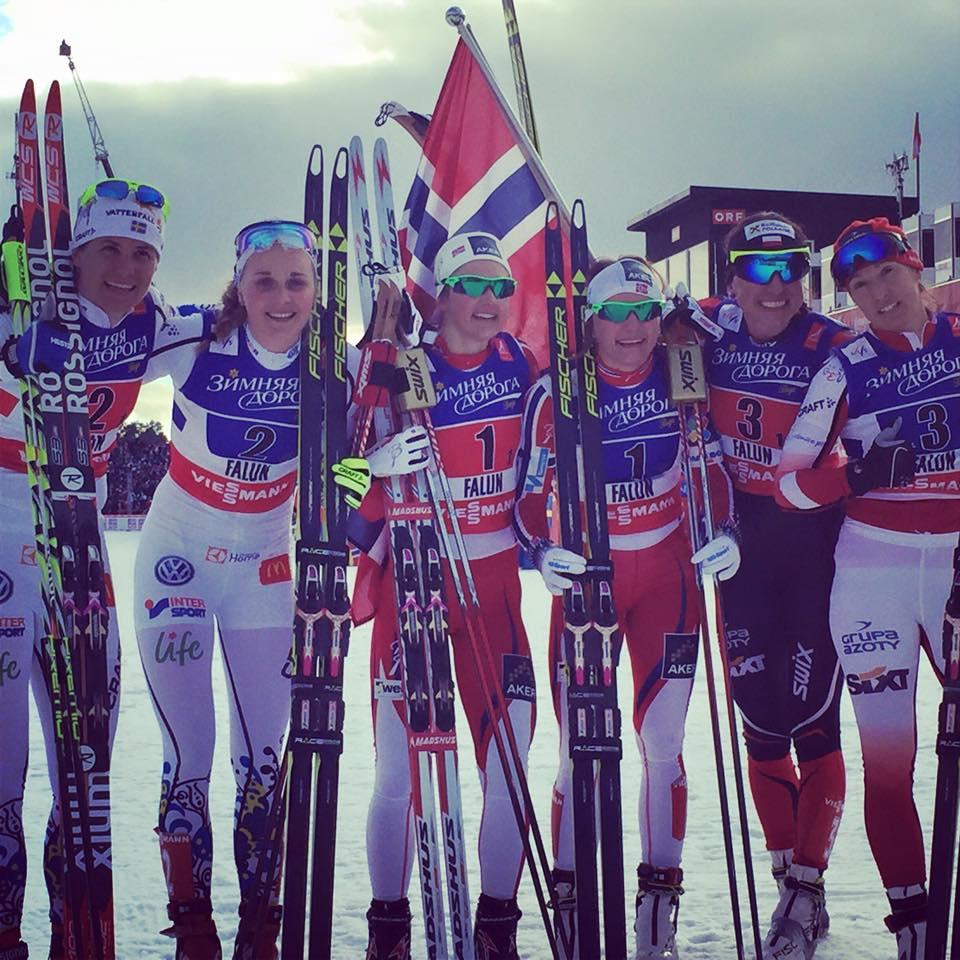 Zlato v tímovom šprinte voľne na MS vo Falune korisťou Nóriek a Nórov