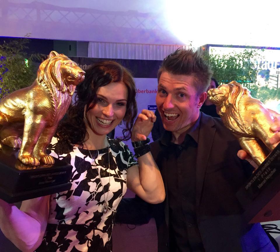 Anna Fenningerová a Marcel Hirscher obhájili Zlatého leva