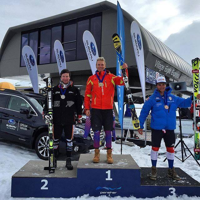 Adam Žampa zvíťazil v slalome v austrálskom Perisheri