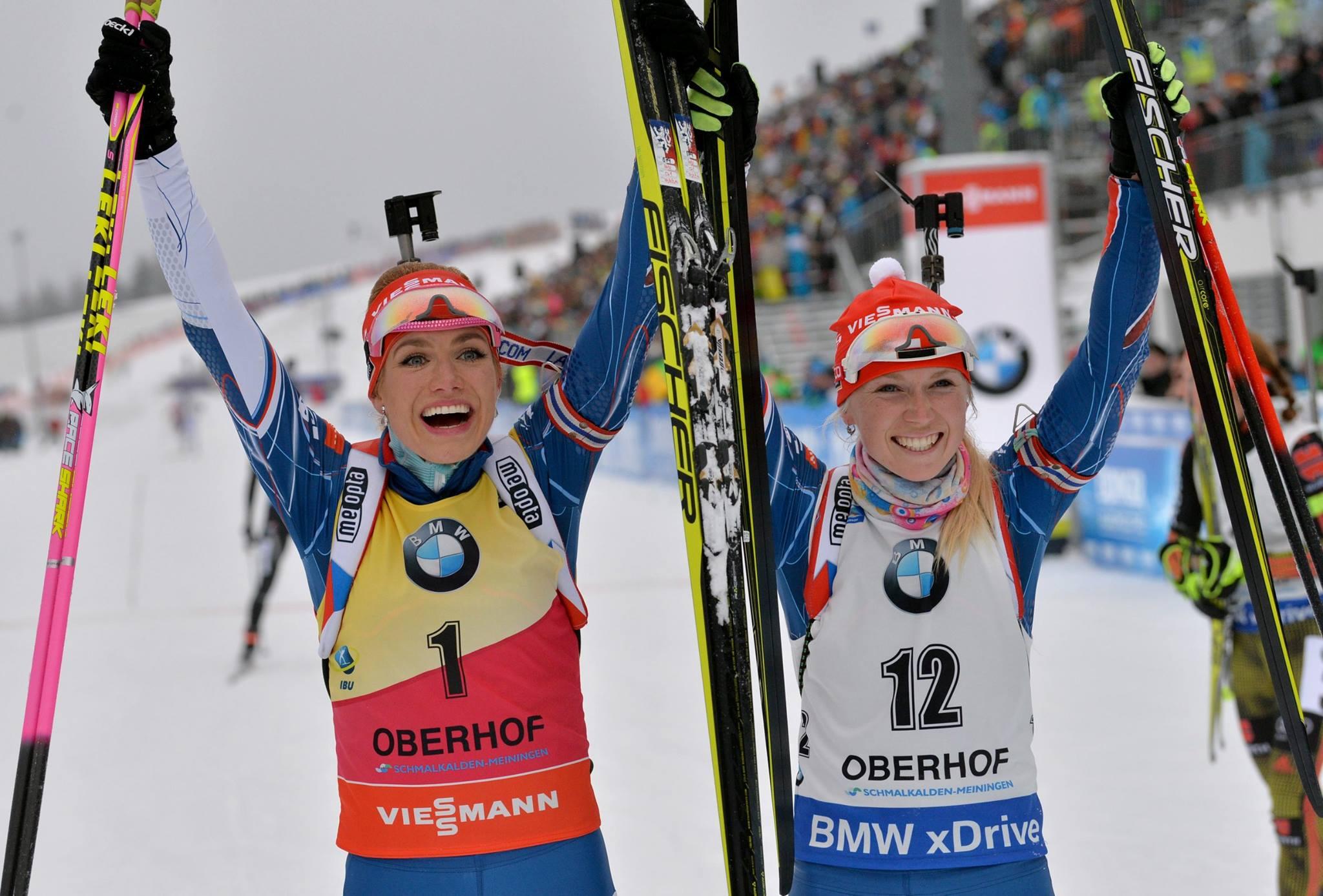 Velký den pro český biatlon! Gabriela Koukalová a Eva Puskarčíková na medailových příčkách!