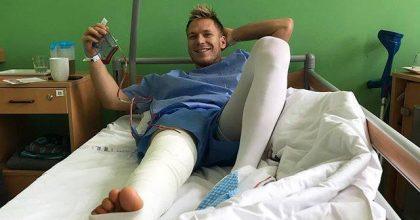 Adam Žampa podstúpil operáciu pravého kolena