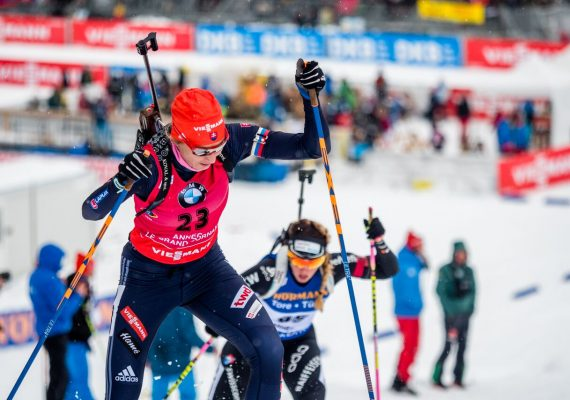 Anastasiya Kuzmina sprintet zum Sieg