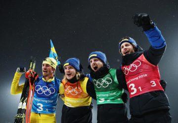 Reprezentanti Švédska dali zlatú bodku za olympijským biatlonovým dianím