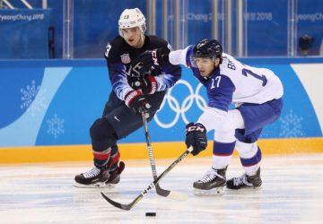 Slovensko v osemfinále olympijského hokejového turnaja prehralo s USA