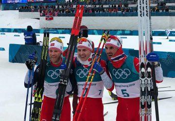 Nóri si v skiatlone kompletne podrobili medailové pódium, zlato pre debutanta Kruegera