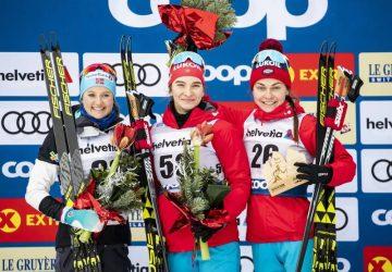 Tour de Ski: Po úvodnej zastávke v Toblachu sú na čele Rusi Neprjajevová a Bolšunov