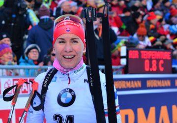 Anastasia Kuzminová skončila na podujatí City Biathlon vo Wiesbadene šiesta