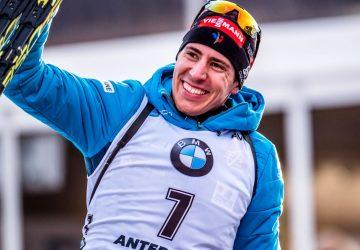 Quentin Fillon Maillet holt sich den Sieg von Nove Mesto