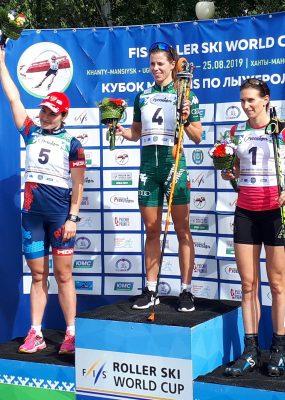Alena Procházková sa dostala na čelo celkového poradia SP v behu na kolieskových lyžiach