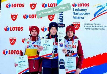 Mladá skokanka na lyžiach Tamara Mesíková počas víkendového turnaja v Poľsku stála dvakrát na pódiu
