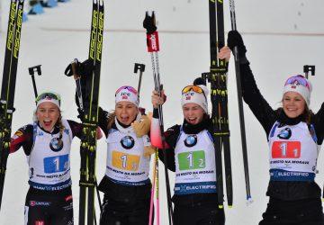 SP Nové Město na Morave: V štafete žien zvíťazili nórske biatlonistky