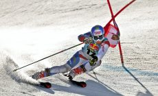 Gino Caviezel won first round in giant slalom in Solden