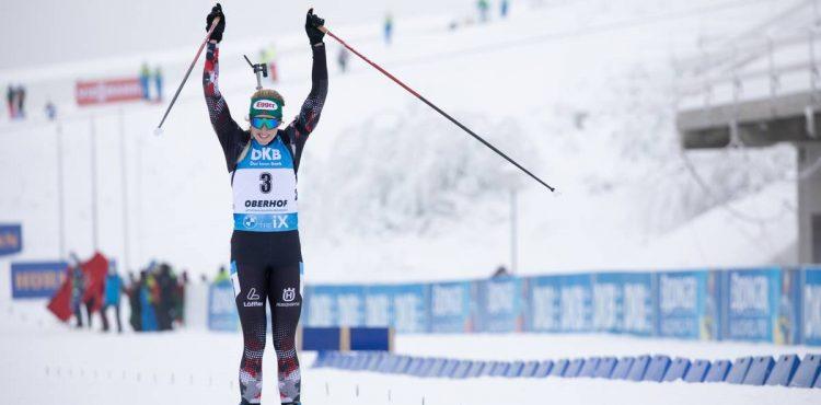 MS Pokljuka: V pretekoch s hromadným štartom vybojovala zlato Lisa Theresa Hauserová